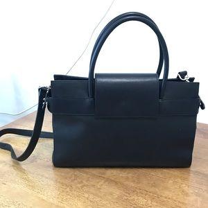 Black Leather Handbag custom made unique design